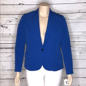 Anne Klein NWT 16 Royal Blue Button Blazer Jacket